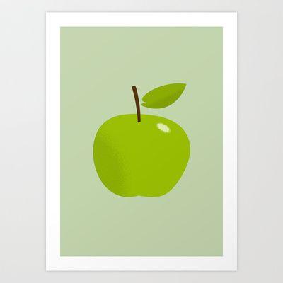 Apple 25 Art Print by Rhett
