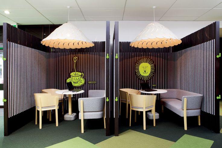 Kiwibank   Architecture Now Batten Chairs, Batten Sofa and Pin table by Jamie McLellan, Fantail light by @davidtrubridge   Design by Designworks (NZ)