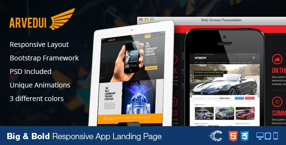 Arvedui - Big Responsive Landing Page Template