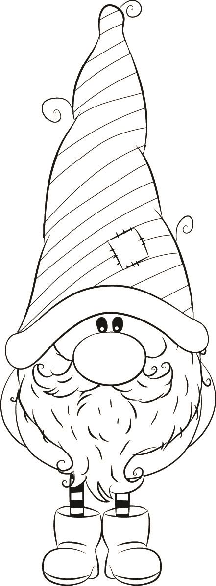 1255-03 William winter Gnome | Puppy coloring pages, Gnome ...