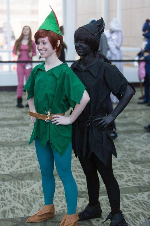 Great sibling or twin costume idea.  Peter Pan and his shadow!