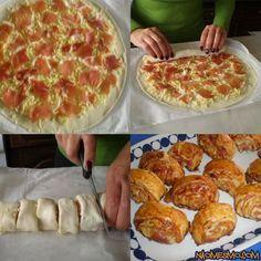 Pizzaimádóknak mutatunk egy tuti receptet, filmezéshez, baráti beszélgetéshez, iszogatáshoz. Részletes recept nincs, egy ilyet nem lehet elrontani. :) Készítheted pizzatésztából vagy leveles tésztából is. Kend meg paradicsomszósszal vagy...