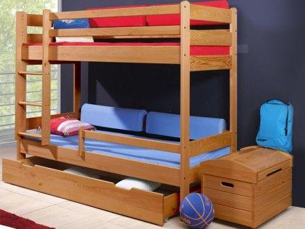 Dětská patrová postel woody olše
