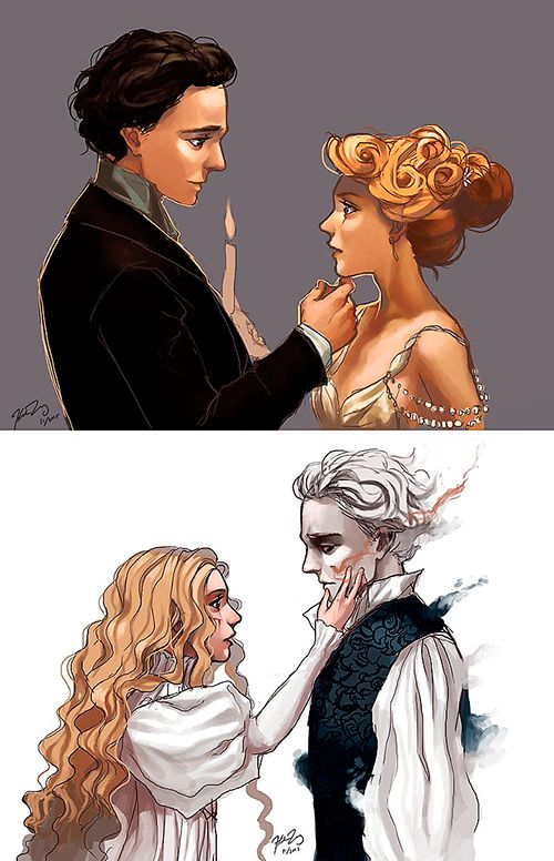 "Fan Art. ""Crimson Peak"" by KooKoozii. Source: http://kookoozii.deviantart.com/art/Crimson-Peak-571481029"