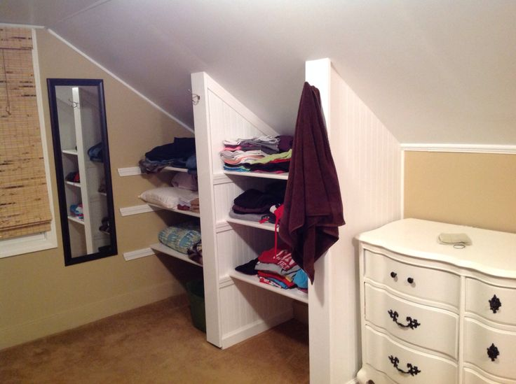 images about Closet on Pinterest Knee Walls Attic