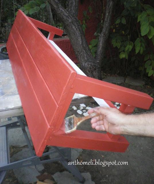 Ανθομέλι: Καρέκλες και παγκάκι κουζίνας σαν .... παλιά!  change it! DIY