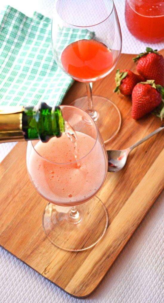 strawberry basil strawberry basil champagne strawberry basil sparkler ...