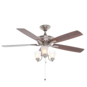 Hampton Bay Havenville 52 in. Brushed Nickel Ceiling Fan 14952 at The Home Depot - Mobile