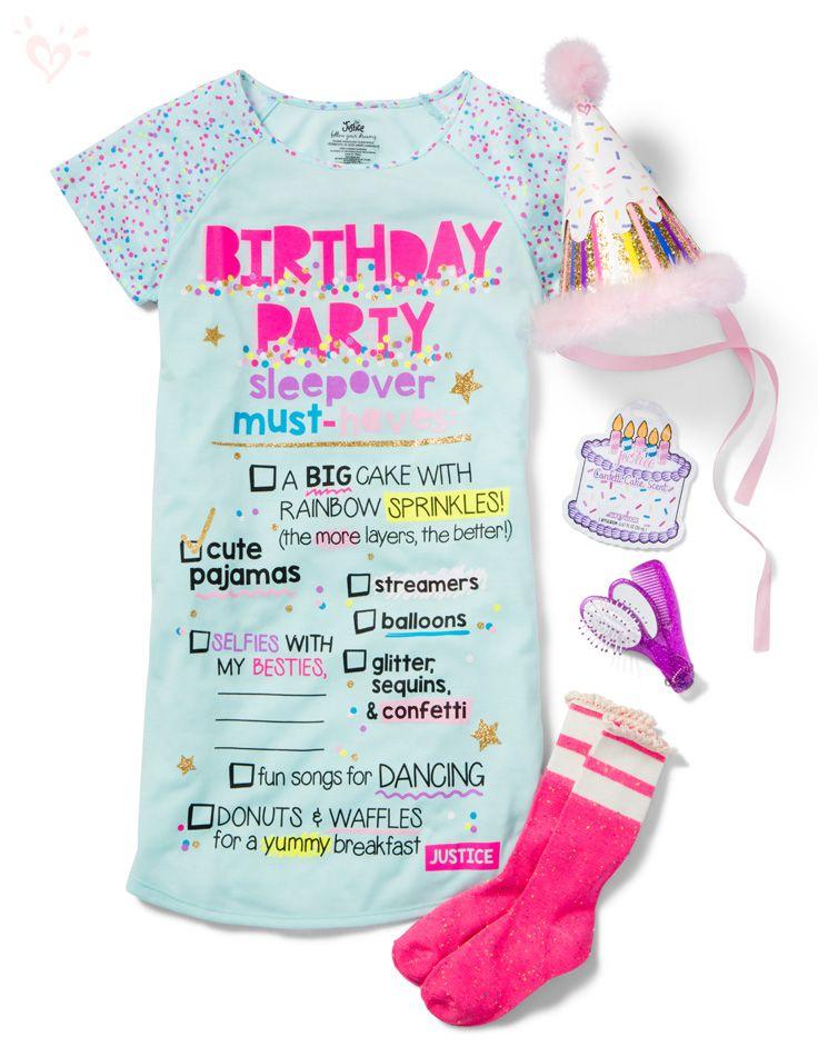 Sleepover pjs for the birthday girl! #birthdayparty