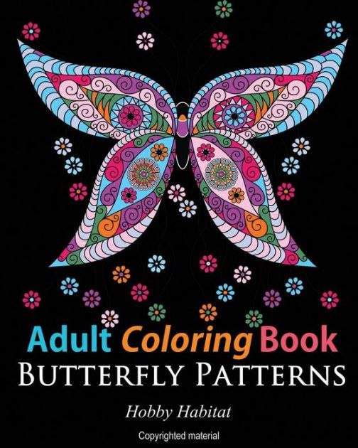 Adult Coloring Books Butterfly Zentangle Patterns 31 Beautiful Stress Relieving Designs By Hobby Habitat