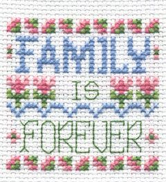 "Bucilla ® Counted Cross Stitch - Beginner Stitchery - Mini - Family    Size: 2"" x 2"""