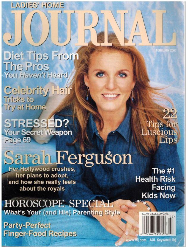 Ladies Home Journal February 2003 - SARAH FERGUSON