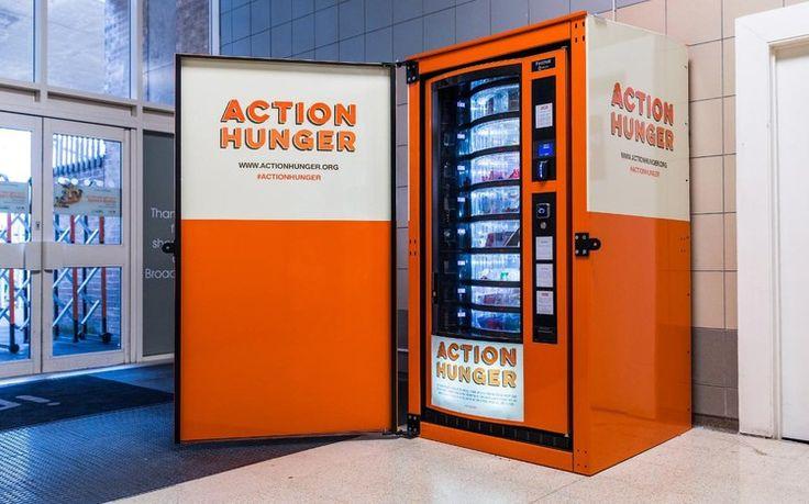 UK's first vending machine for the homeless installed in Nottingham shopping centre