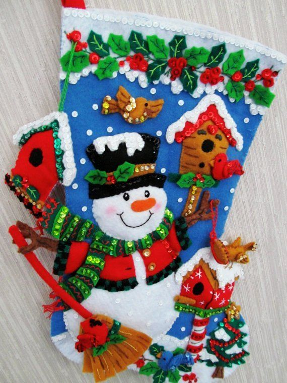 Snowman Christmas Stocking Cross Stitch - Happy Snowman Christmas Stocking #3D #Christmas #stockings www.loveitsomuch.com