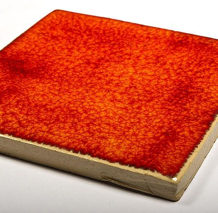 Handmade Wall Tile  - Flaming Orange