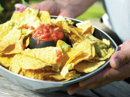 The Weber® Style™ Poultry Roaster is a really versatile accessory. Not only can you roast a beer can chicken, it's also perfect for nachos and even chocolate brownies!