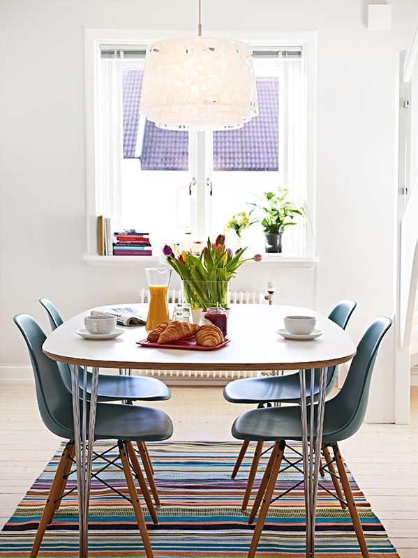 Light and airy swedish apartment in gothenburg interior dining room pinterest gothenburg - Light blue dining table ...