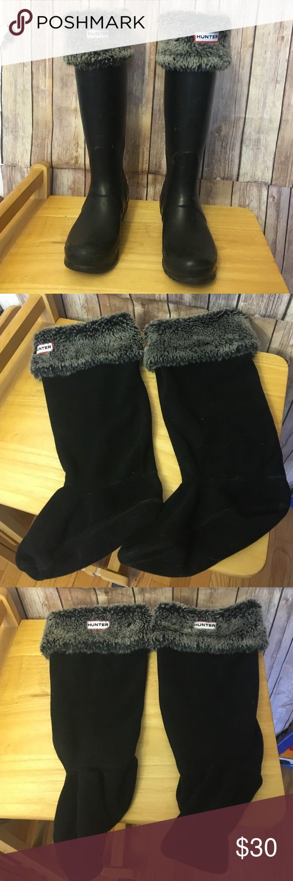 Hunter fleece wellie socks Fold over hunter fleece wellie liners. Comfortable and warm. EUC. Size small/medium. Hunter Shoes Winter & Rain Boots