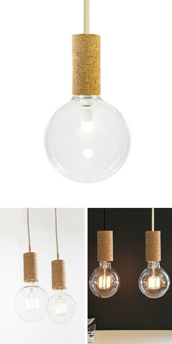 Suspension ampoule douille en liège  http://www.homelisty.com/suspension-ampoule/