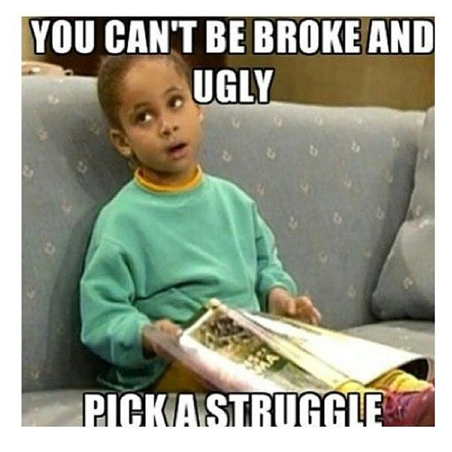 Funny Meme Ugly : Lol raven symone says quot you can t be broke and ugly