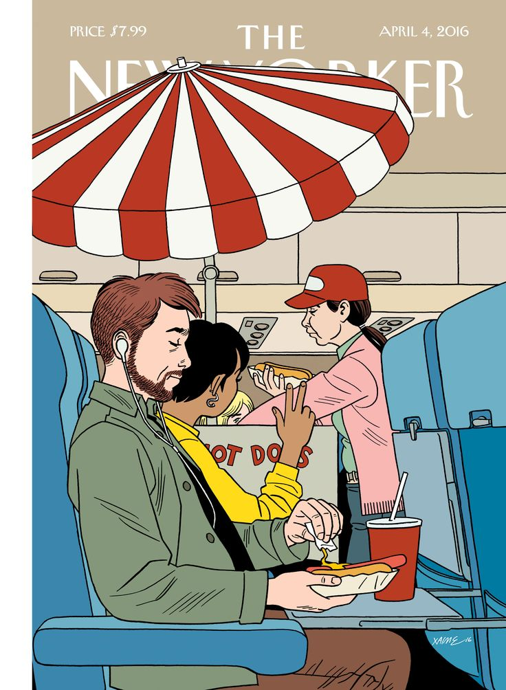 "The New Yorker - Monday, April 4, 2016 - Issue # 4633 - Vol. 92 - N° 8 - Cover ""Bun Voyage"" by Jaime Hernandez"