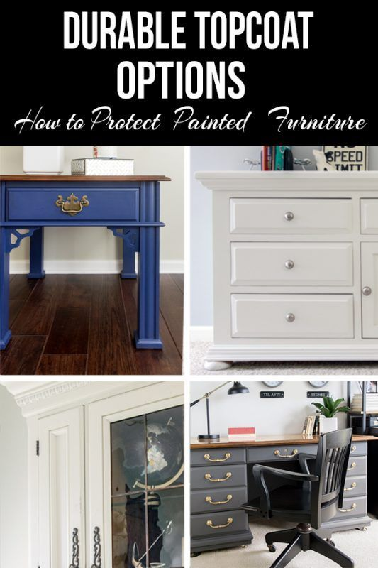 How to protect painted furniture from scratches and stains. Includes information on my experience with different brands of polyacrylic and polyurethane, best practices, and durability.