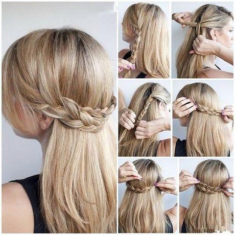 Lange Haare einfach Hochsteckfrisuren