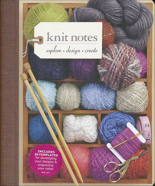 Knitting Pattern Design Templates : Knit Notes project templates so you can record each design detail from materi...