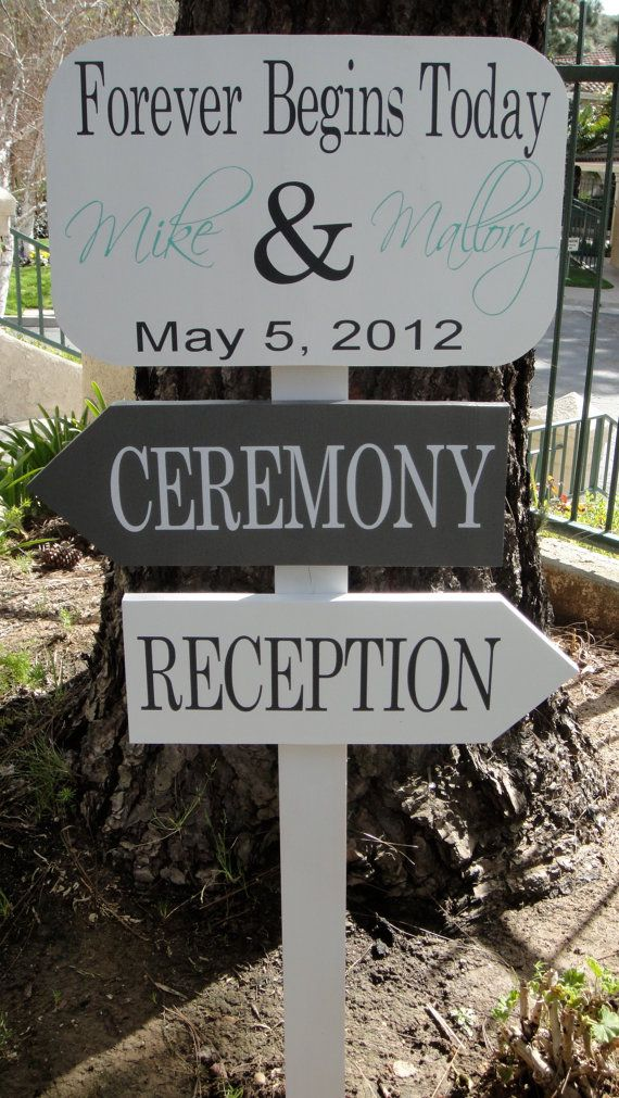 Greet your guests with this directional sign! We can customize this sign to your wedding theme and colors! This listing is for 3 custom boards