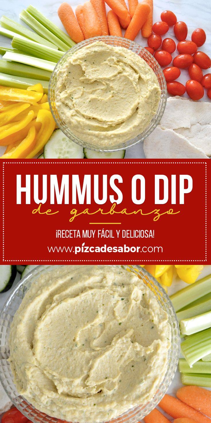 Hummus o dip de garbanzo. Receta muy fácil y deliciosa. Deli Food, Vegetarian Recipes, Healthy Recipes, Eastern Cuisine, Yummy Food, Tasty, Dip Recipes, Cooking Time, Love Food