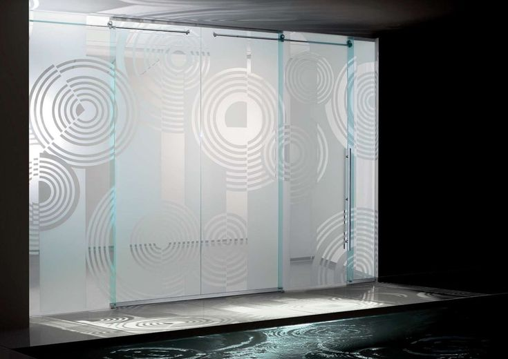 Etched Glass Shower Doors   Amazing Design of Modern Sliding Glass Doors
