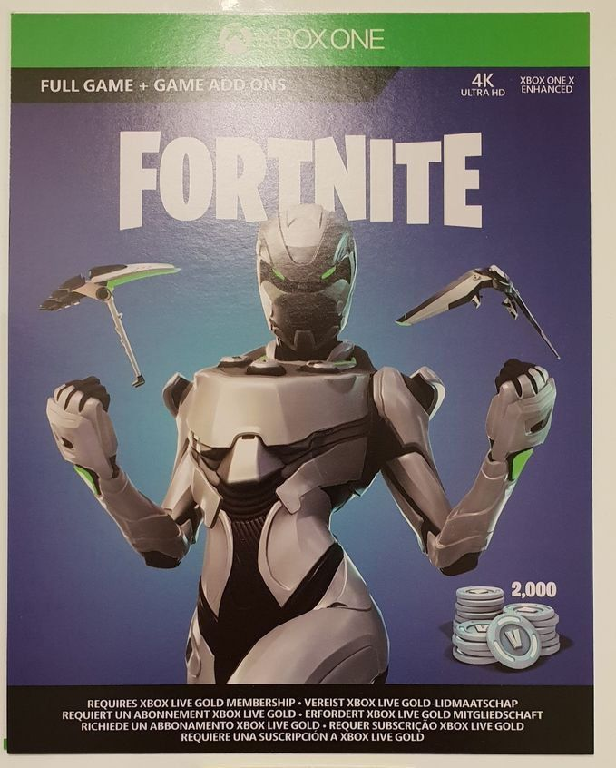 Fortnite Xbox One Eon Skin Cosmetic Set Skin2000 V Bucks Physical
