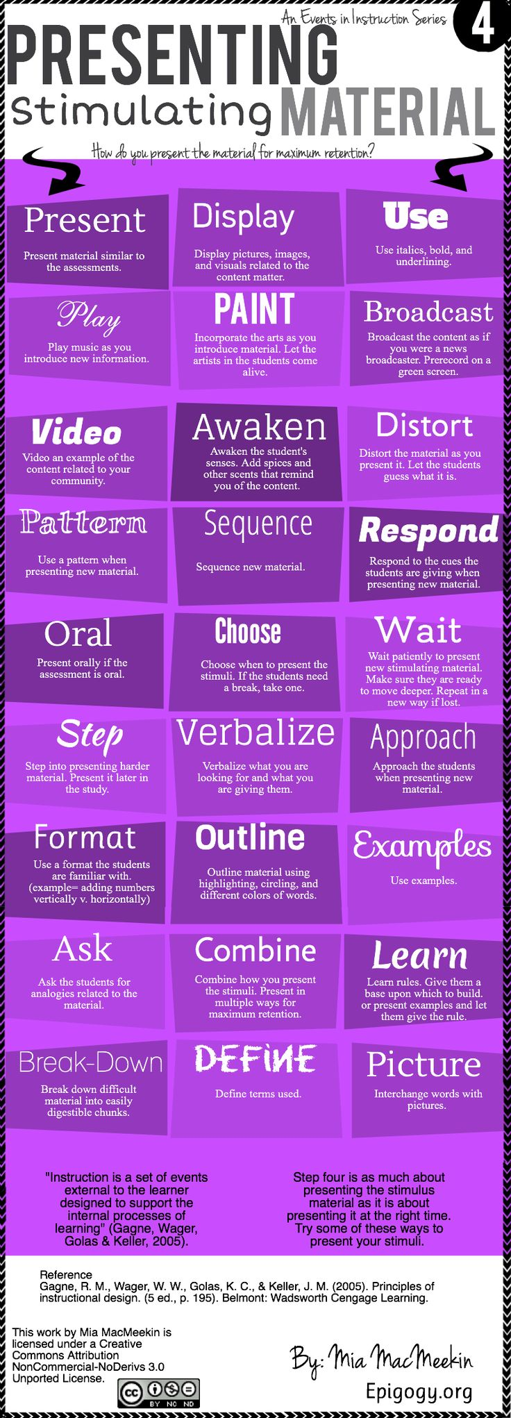 Great infographics on presenting stimulating material to kids for maximum retention of concepts.