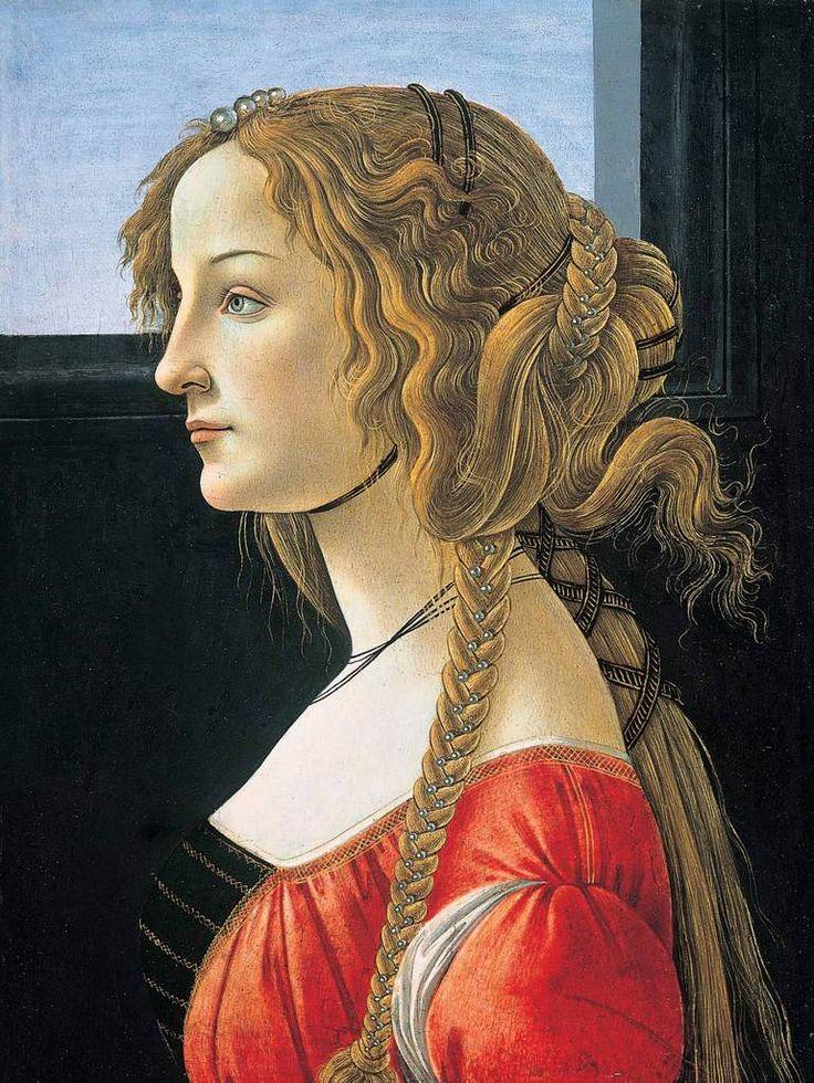 Botticelli -Simonetta Cattaneo de Candia Vespucci, nicknamed la bella Simonetta, was an Italian Renaissance noblewoman from Genoa and the wife of Marco Vespucci of Florence. Wikipedia Born: January 28, 1453, Genoa, Italy Died: April 26, 1476, Florence, Italy Spouse: Marco Vespucci