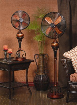 Delightful Decorative Electric Fans By Deco Breeze: Floor Standing Fans, Table Top Fans  And Outdoor