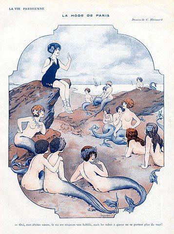 mermaidescapades:    Chéri Hérouard 1913 Mermaid The Fashion of Paris
