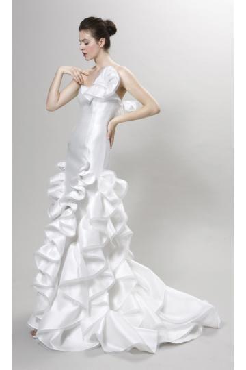 Satin Stretch Printemps Sans manches Robes de mariée 2014