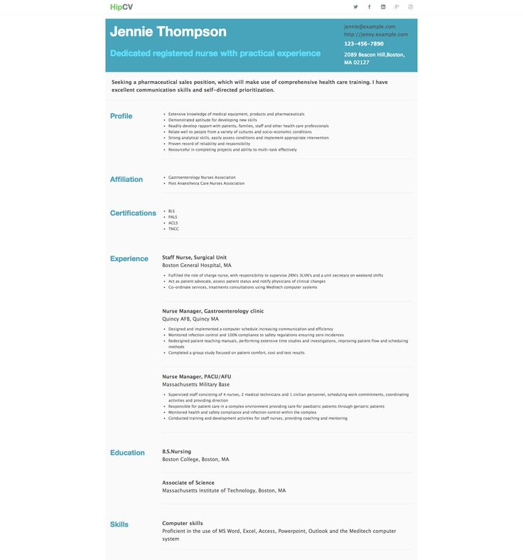 40 best HipCv Resume Examples images on Pinterest Author - cath lab nurse sample resume