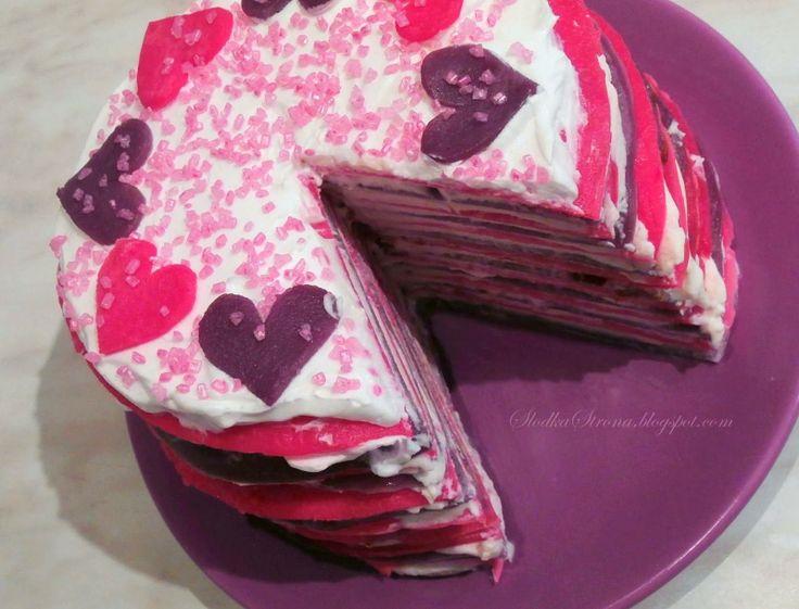 Słodka Strona: Tort Naleśnikowy na Walentynki