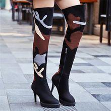 2017 Nowych Moda Over The Knee Kobieta Buty Cienkie Szpilki zima Jesień Buty Buty Kobiety Sexy Lady Suede Botas Mujer Długi buty(China (Mainland))
