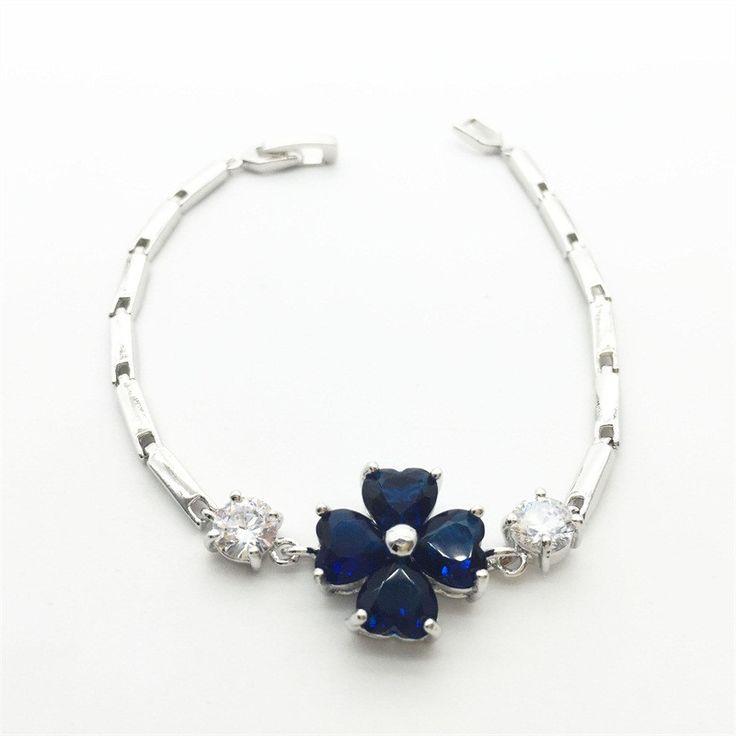 White Gold Plated Charm Bracelet Gift For Women Jewelry Crystal Shamballa Bracelet Meaning