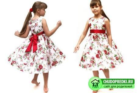 Стильное праздничное платье для девочки