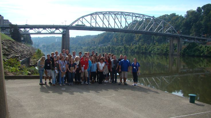 Herbert Hoover High School visiting the City of Charleston, WV for an outdoor classroom.
