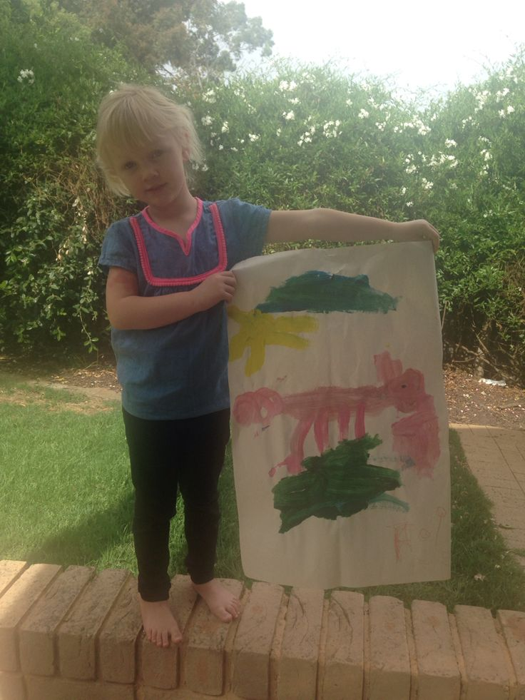 Aoife with her pig painting Nov 2015