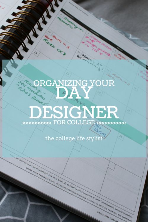 How to organize your day designer for college!