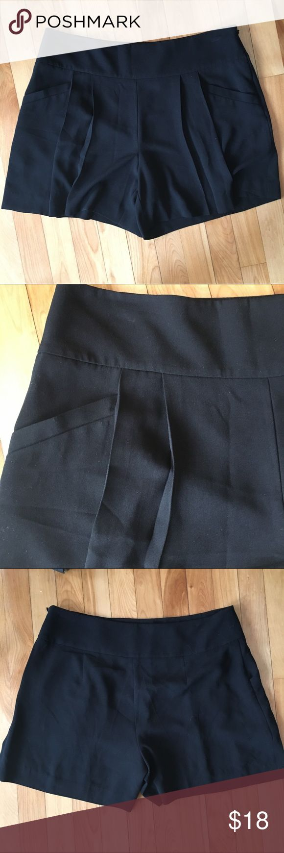 """LOFT Side Zip Mid-rise Shorts 5"""" Inseam 8 Pleated with pockets. Side zipper. 100% polyester. Great condition. Unlined. Flowy open leg. Approx 10"""" rise. LOFT Shorts"""