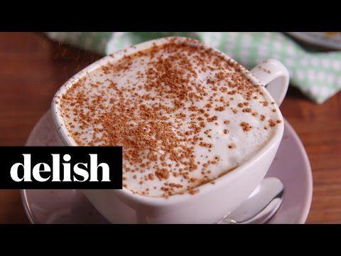 Making Nutella Mocha Latte Video — Nutella Mocha Latte Recipe How To Video