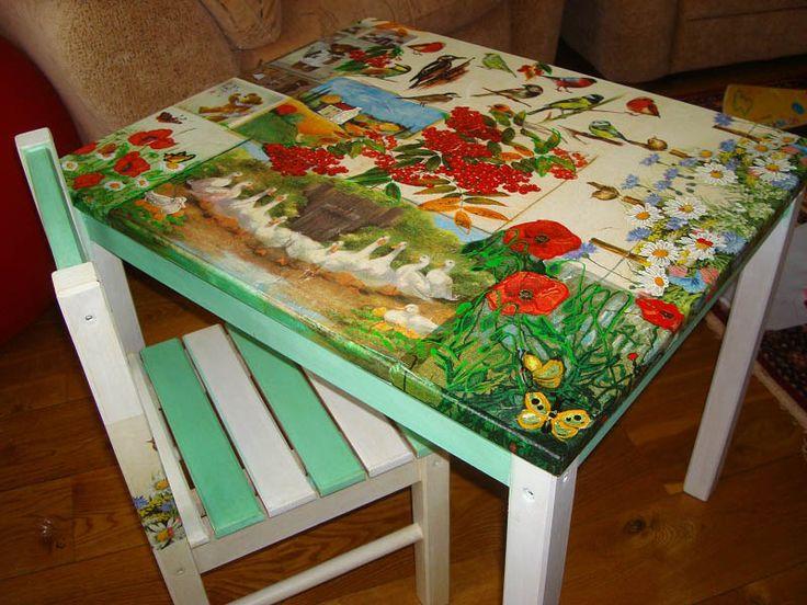 Как украсить стол своими руками: реставрация, как сделать декор, декупаж…