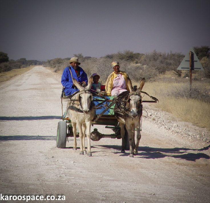 Hotazel Western Cape SA Karretjie mense,