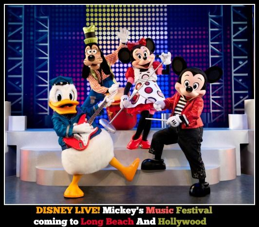 Disney Live! Mickey's Music Festival coming to Long Beach and Hollywood!